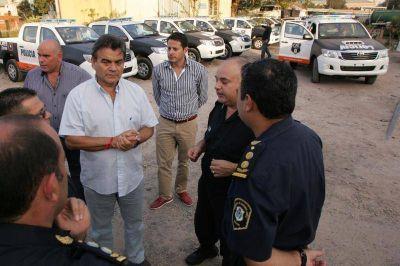 Gutiérrez supervisó la puesta en marcha de 60 nuevos patrulleros que recorrerán Quilmes