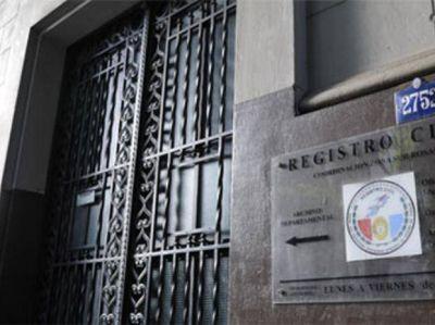 El Registro Civil no atendr� al p�blico por un paro que se extender� toda la semana