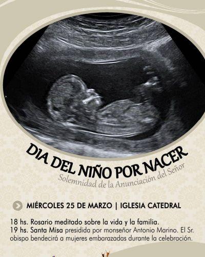 Mar del Plata: El obispo presidirá la misa por todos los niños por nacer