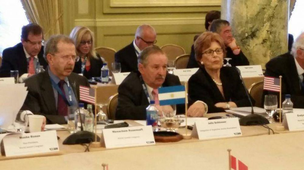 Schlosser participó de la reunión del Comité Ejecutivo del Congreso Judío Mundial (CJM)