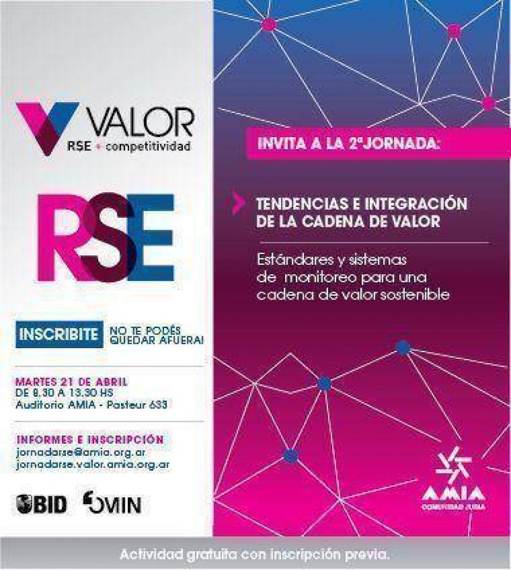 Programa Valor de AMIA: El 21 de abril se realizará la Segunda Jornada de RSE