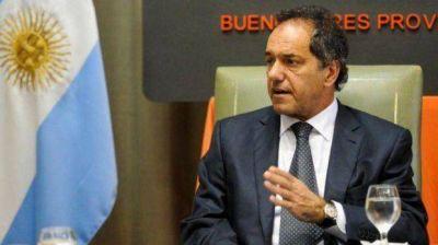 Cerca de CFK, Scioli le pegó a la alianza UCR-PRO