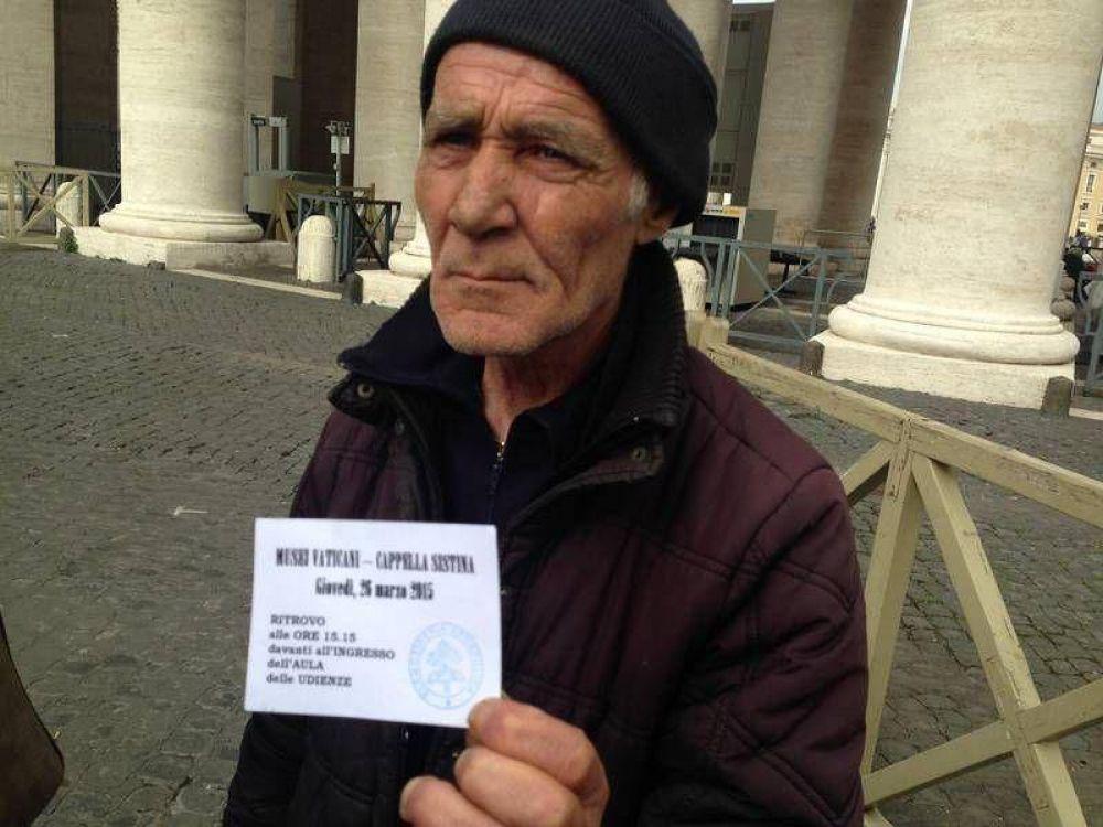 Visita guiada a los Museos Vaticanos para 150 «sin techo»; el Papa: es casa de todos