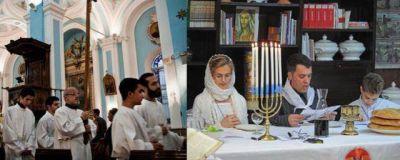 Cristianos y judíos conmemoraron juntos la Pascua y el Pésaj