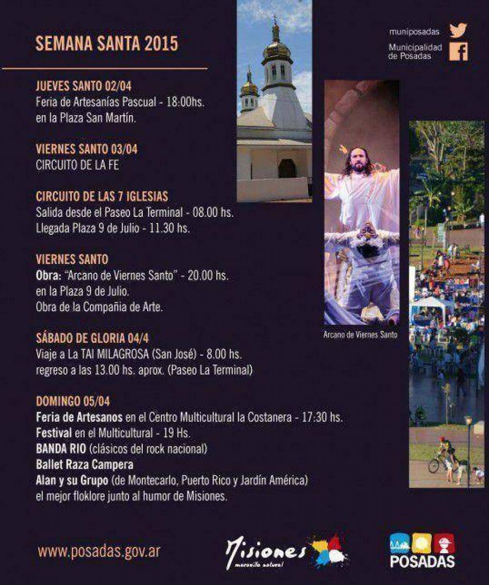 Organizan variadas actividades para celebrar Semana Santa en Posadas
