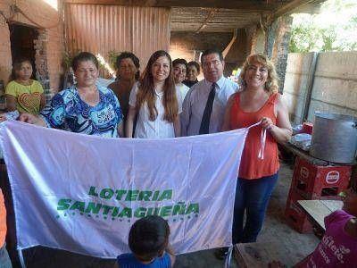 Lotería Santiagueña benefició con orden de alimentos a un Comedor Infantil