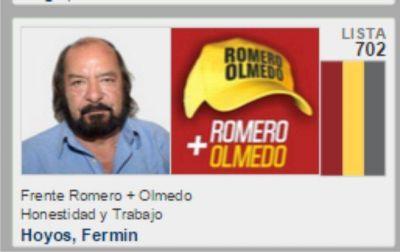 ATE no avala la candidatura de su dirigente Fermín Hoyos con Romero