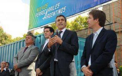 Randazzo anunció la electrificación del tren hasta Mercedes