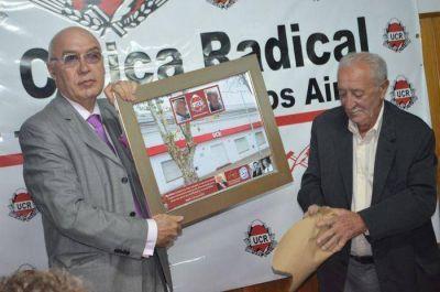 El comit� de la UCR de Saladillo rindi� homenaje al militante Miguel Hugo Belatti.