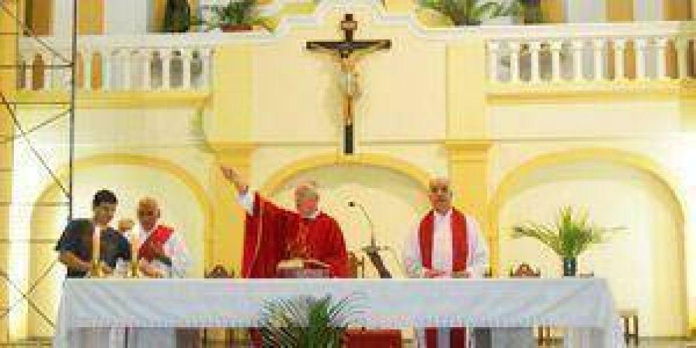 La comunidad católica recordó el Domingo de Ramos