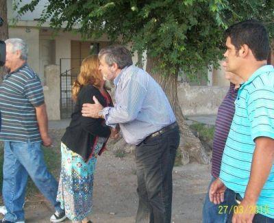 Lopes, de campaña por Villa Rosario