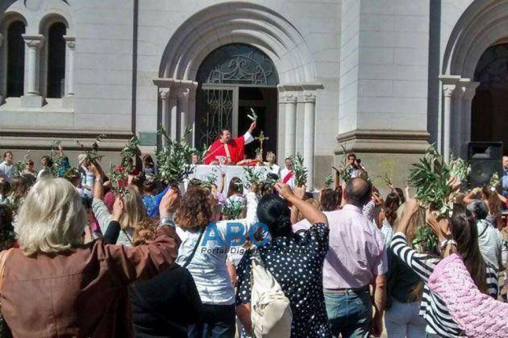 Se realizó la misa de Domingo de Ramos