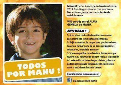 Ex vecino de Tres Lomas realiza campaña para hallar un donante de médula osea para su hijo