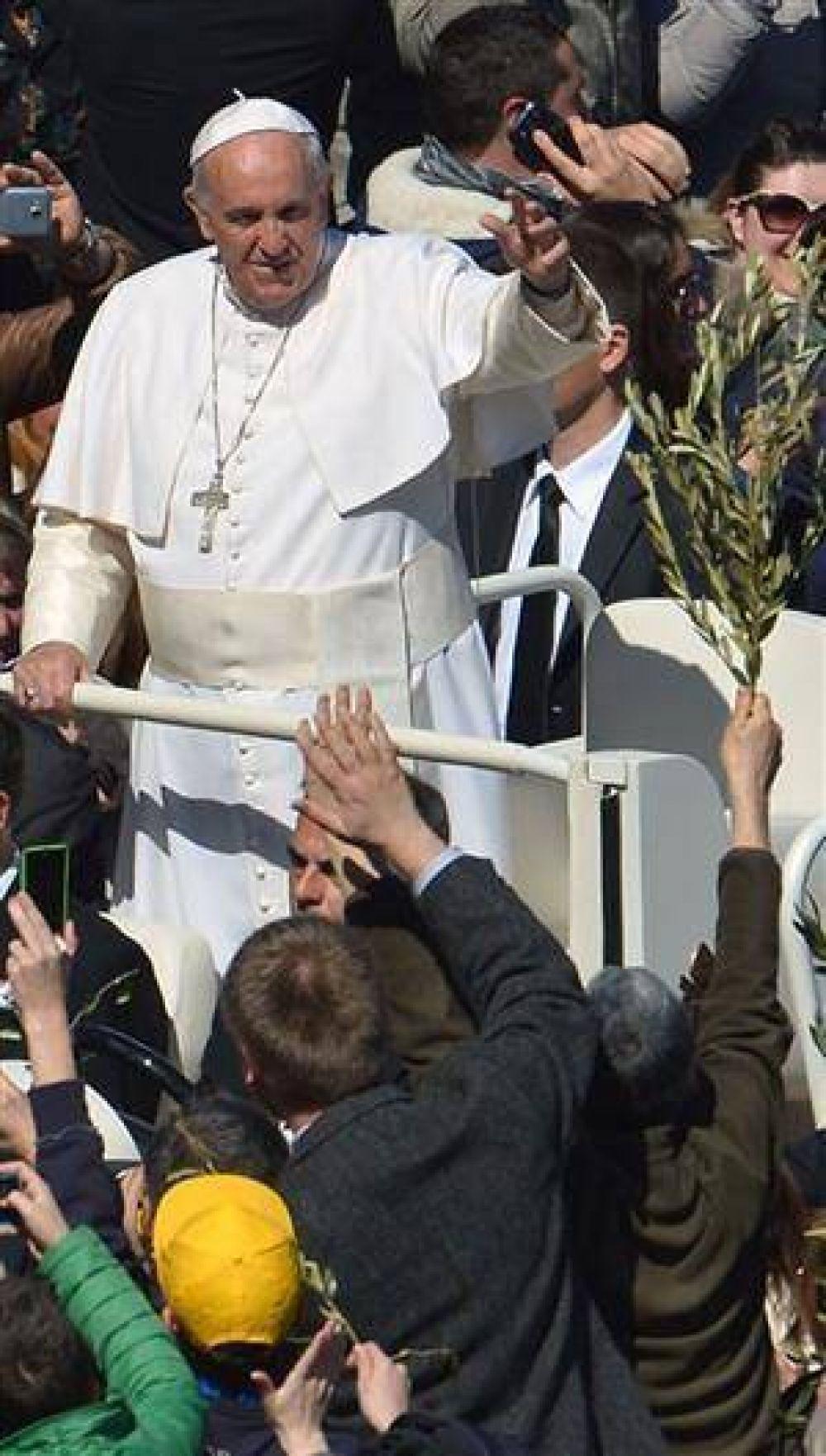 Más humildad, el pedido de Francisco en el Domingo de Ramos
