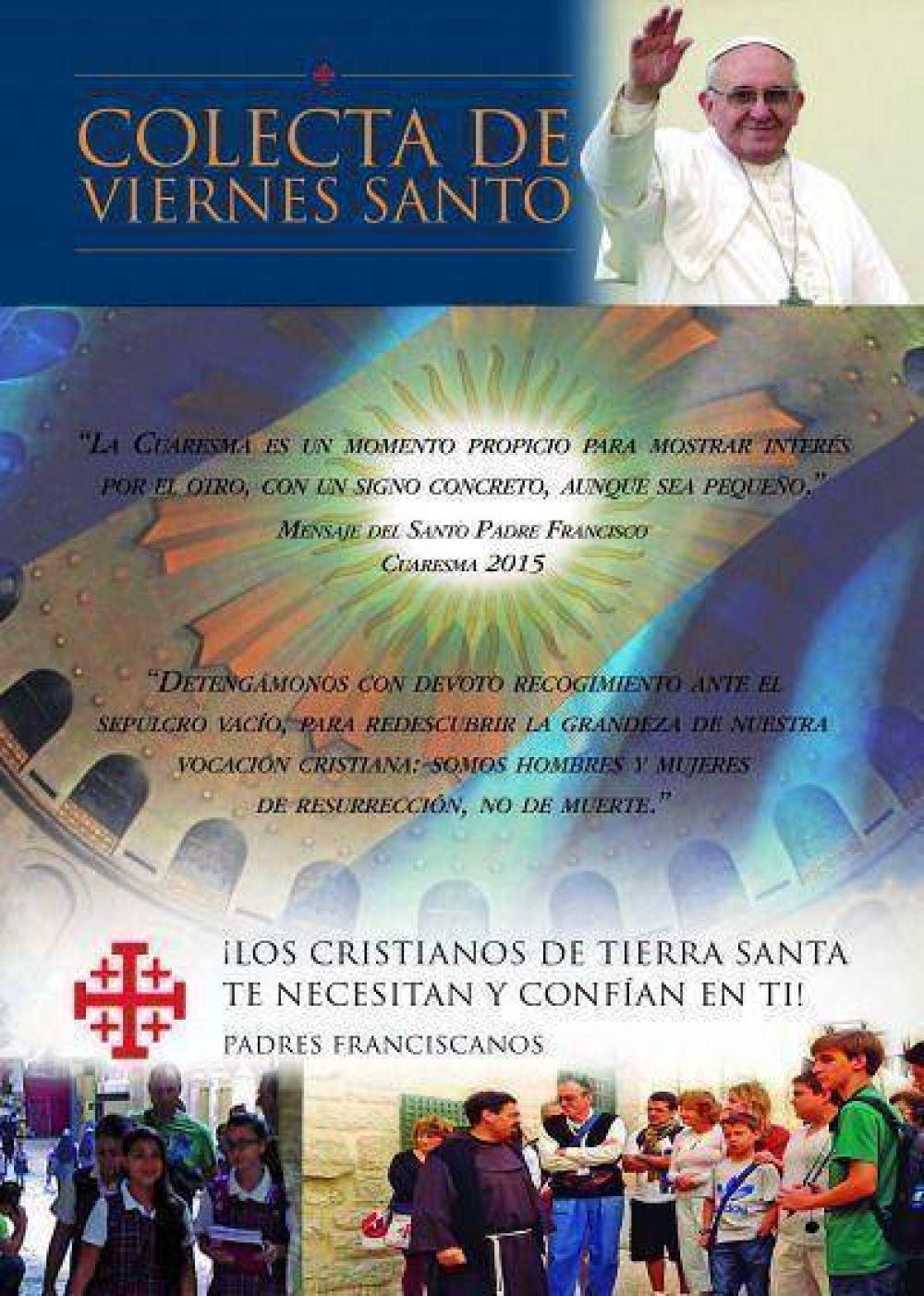 3 de Abril: Colecta en favor de Tierra Santa