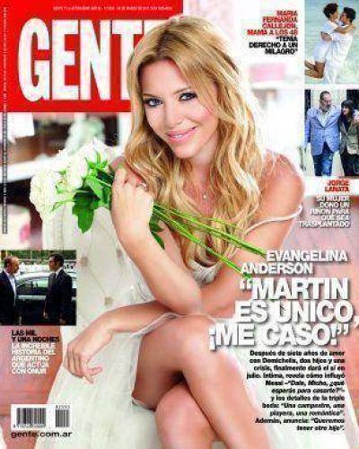 Evangelina Anderson y Martín Demichelis se casan con una increíble triple boda.