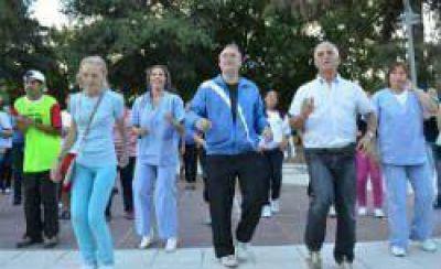 El programa Plazas Saludables se trasladó a la ciudad de Frías