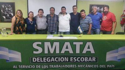 SMATA Escobar apoya la candidatura de Ariel Sujarchuk