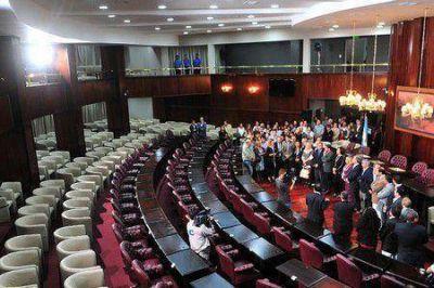 Poggi inauguró la primera etapa de obras en la Legislatura