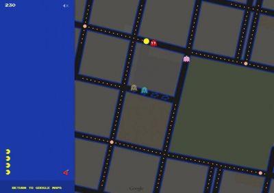 Se puede jugar al Pac-Man por las calles de Mendoza gracias a Google Maps