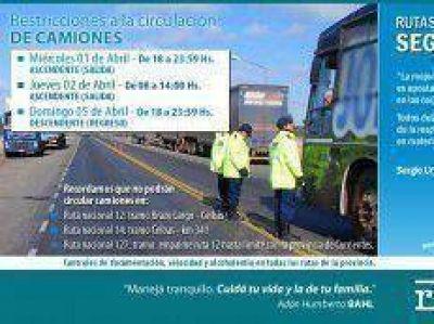 Comienza este miércoles la restricción vehicular de camiones