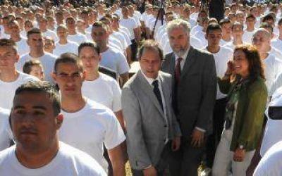 Scioli inauguró el ciclo lectivo de la Policía Local en Moreno