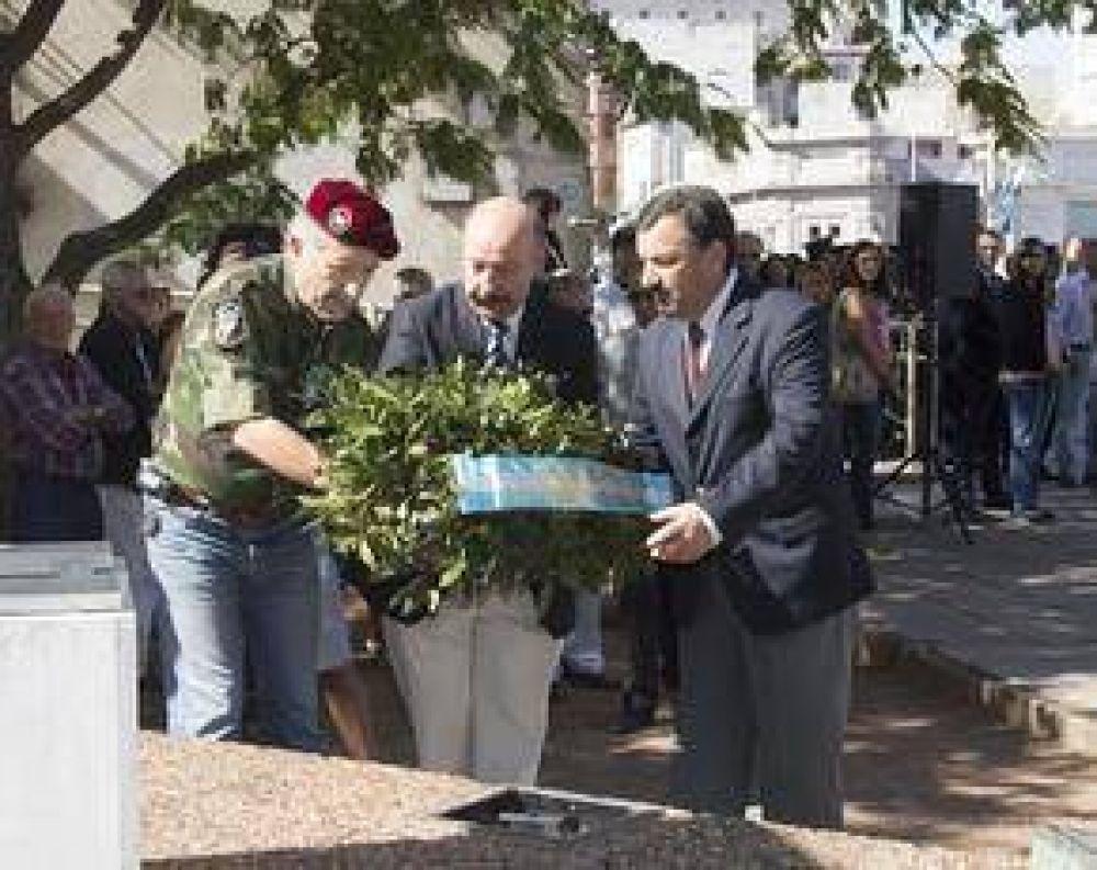 El Intendente encabezó el acto por el Día del Veterano y de los Caídos en la Guerra de Malvinas