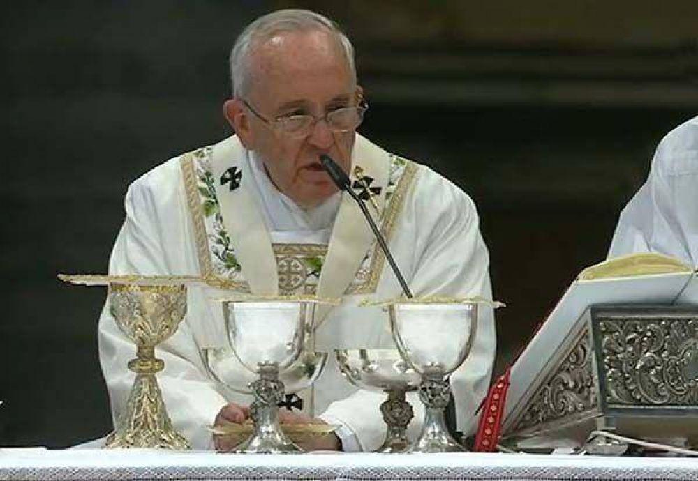 """""""Aprendamos a descansar"""", el Papa en la Misa Crismal"""