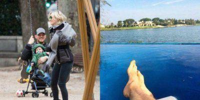 Michael Bublé, relajado en la Argentina con Luisana Lopilato y su hijo