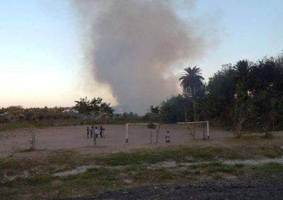 Bruera incendió el basural que montó en Hernández