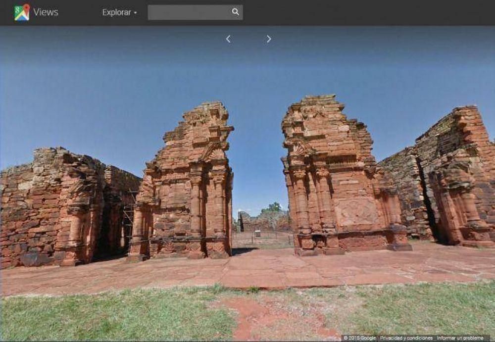 Las ruinas de San Ignacio ya pueden recorrerse gracias a Google Street View