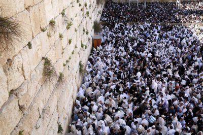 M�s de 75.000 personas se acercaron al Muro de los Lamentos para la bendici�n sacerdotal de Pesaj