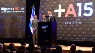 Sergio Massa lanzó una campaña para juntar firmas contra la candidatura de Carlés a la Corte