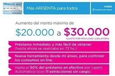 El Gobierno aumentó el monto máximo de crédito de la tarjeta Argenta de 20.000 A 30.000 pesos