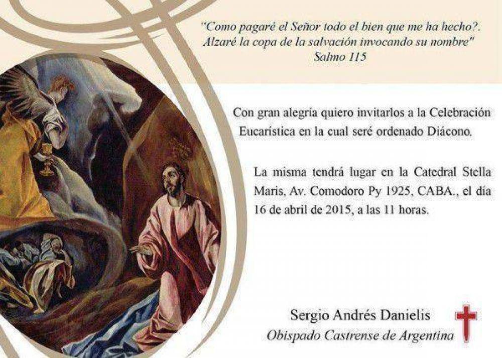 Obispado Castrense: Invitación a ordenación diaconal