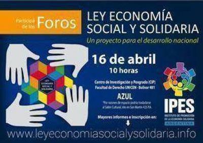 Azul , sede de uno de los Foros para debatir el Proyecto de Ley de la Economía Social y Solidaria