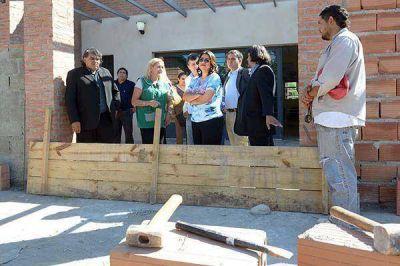 La Gobernadora recorrió obras y visitó el Centro de Integración
