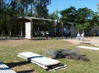 Con la presencia del gobernador del Chaco, se inicia la obra del polideportivo de Las Breñas