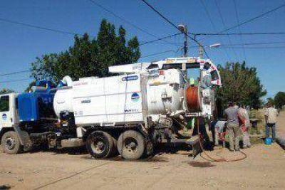 Sameep continua con los trabajos de saneamiento de cloacas en Villa Angela