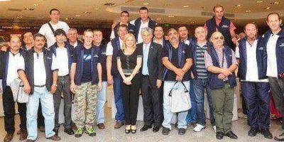 El segundo contingente de veteranos vuelve a Malvinas