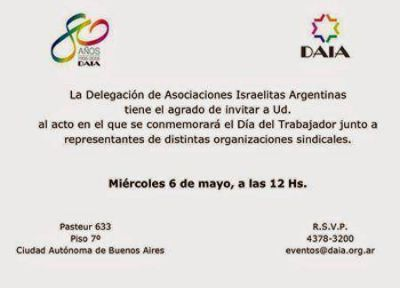 Acto por el Día del Trabajador en la DAIA