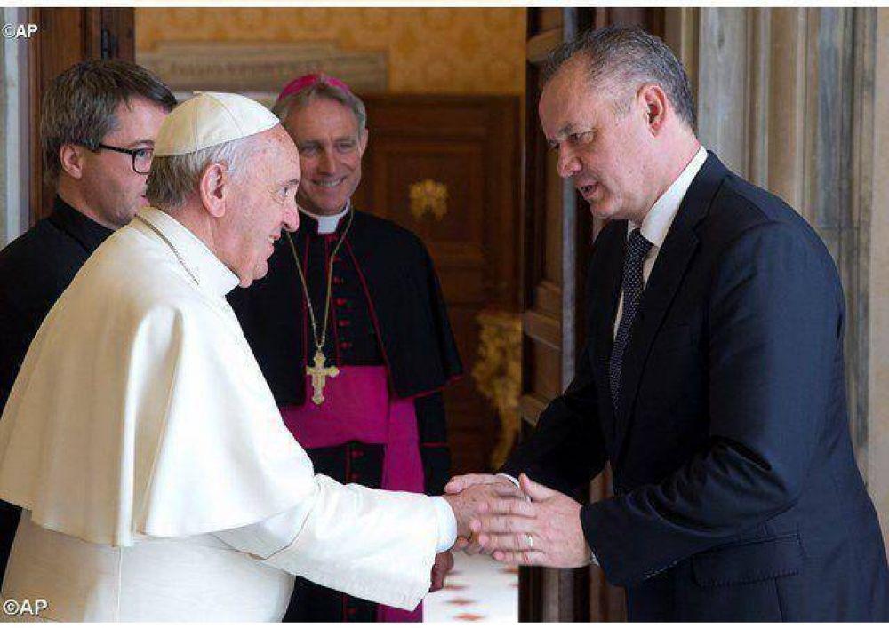 Audiencia del Papa al Presidente de la República Eslovaca