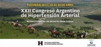 La Hipertensión Arterial será tratada en Tucumán por más de 2500 especialistas