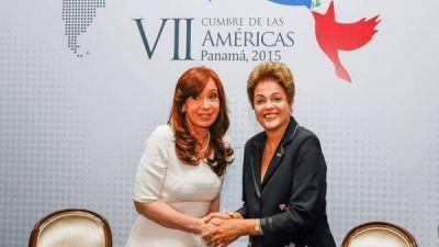 Tras su discurso, Cristina se reunió con Dilma