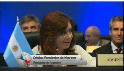 """CFK: """"Ningún país del continente puede ser una amenaza para EE.UU."""""""