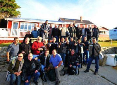 El segundo contingente de ex combatientes llegó a Malvinas