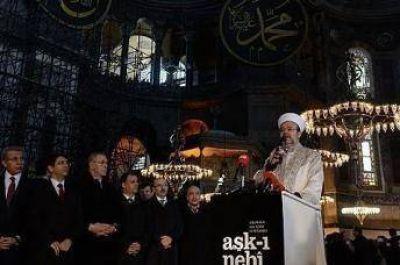 Lectura del Corán en Santa Sofía después de 85 años