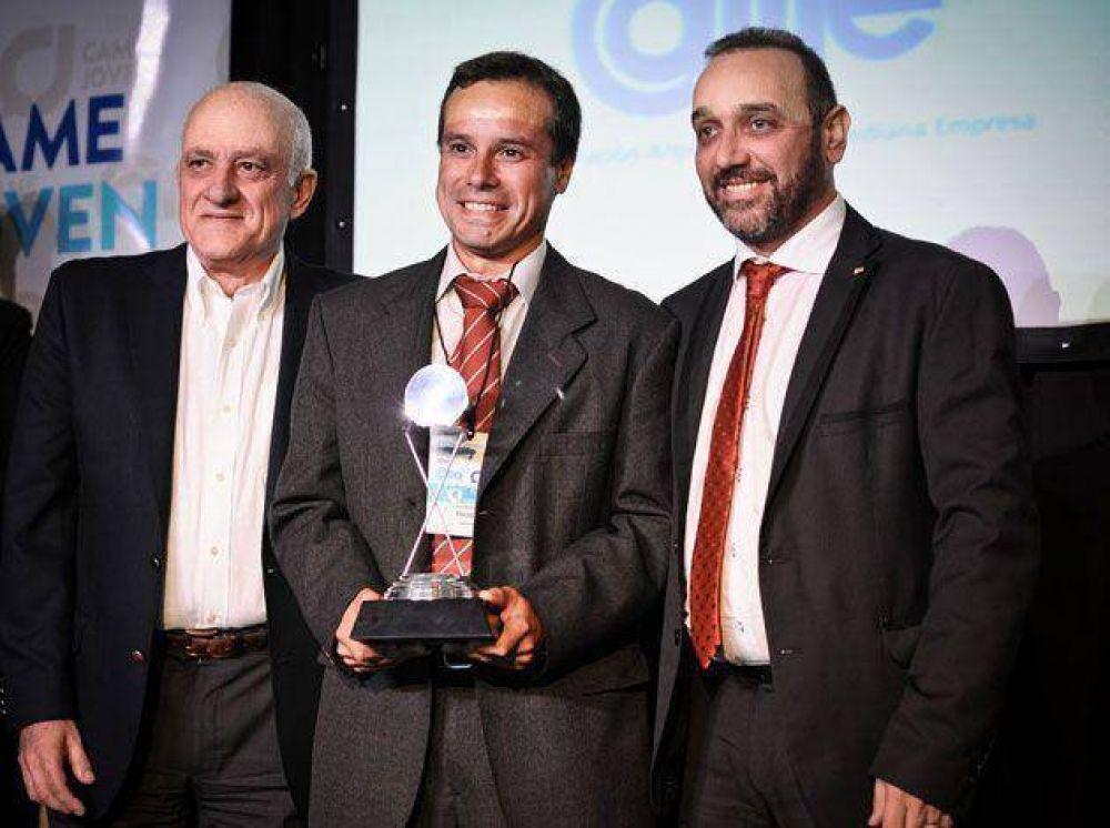 Un tandilense es el ganador del Premio Joven Empresario Argentino