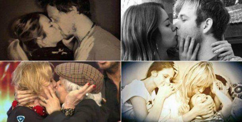 Los famosos celebraron el Día Internacional del Beso en las redes sociales