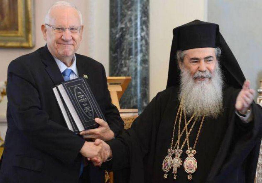 El Presidente Rivlin visitó a los líderes cristianos en Jerusalem